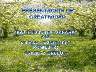 PRESENTACION DE CREATIVIDAD
