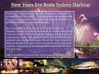 New Years Eve Boats