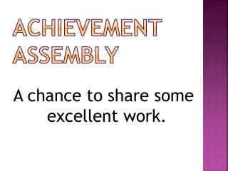 Achievement Assembly