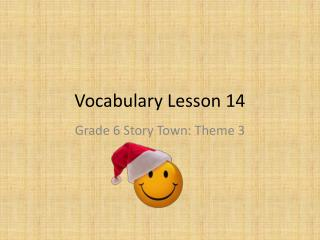 Vocabulary Lesson 14