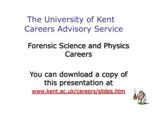 Forensic Science and Physics