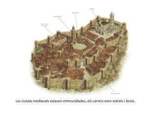 Les ciutats medievals estaven emmurallades, els carrers eren estrets i bruts.