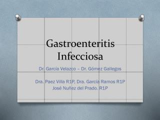Gastroenteritis Infecciosa