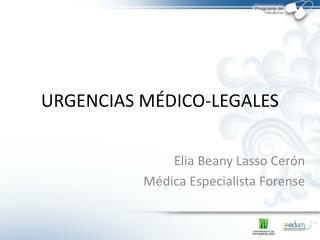URGENCIAS MÉDICO-LEGALES