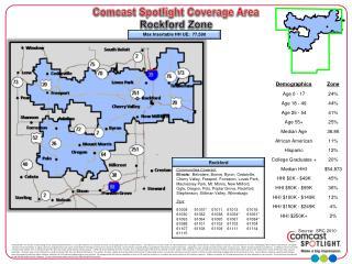 Comcast Spotlight Coverage Area  Rockford Zone