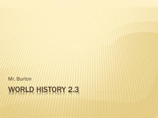 World History 2.3