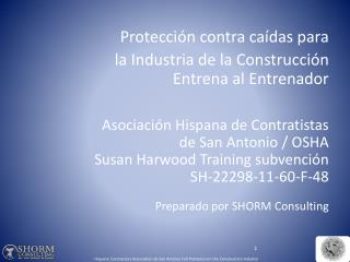Protección contra caídas para  la Industria de la Construcción Entrena al Entrenador