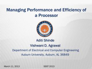 Managing Performance and Efficiency of a Processor