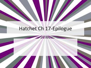 Hatchet  Ch  17-Epilogue