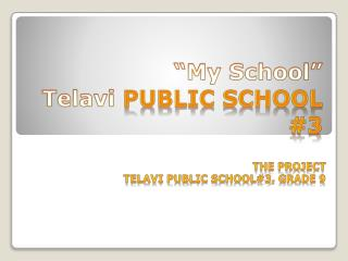"""My School"" Telavi  Public School #3"