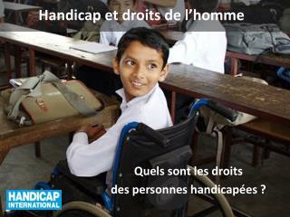 Handicap et droits de l'homme