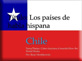 Título :  Los  países de habla hispana