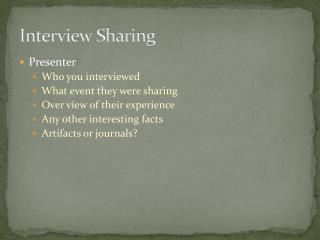 Interview Sharing