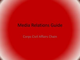Media Relations Guide