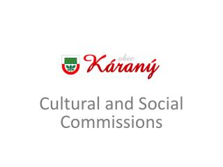 Cultural and Social Commissions