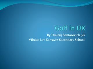 Golf in UK