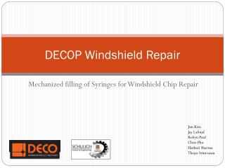 DECOP Windshield Repair