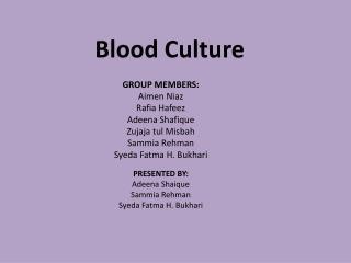 Blood Culture