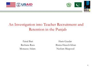 An Investigation into Teacher Recruitment and Retention in the Punjab