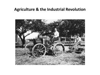 Agriculture  & the  Industrial  Revolution