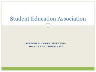 Student Education Association