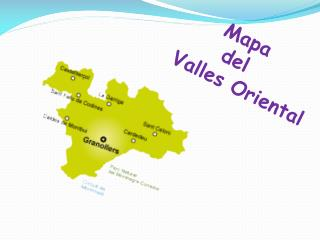 Mapa       del Valles Oriental