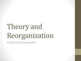 Theory and Reorganization