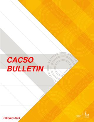 CACSO BULLETIN