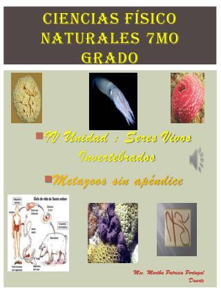 Ciencias físico naturales 7mo grado