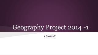 Geography Project 2014 -1