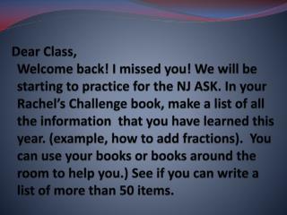 Dear Brilliant Students,