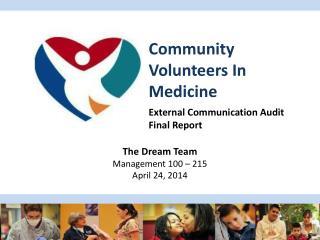 Community Volunteers In Medicine