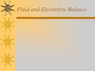 Fluid and Electrolyte Balance