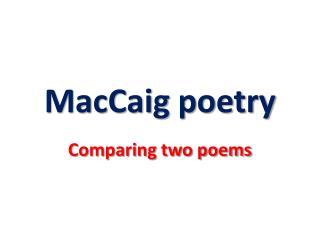 MacCaig  poetry