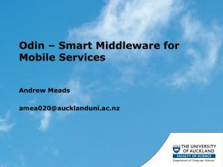 Odin – Smart Middleware for Mobile Services