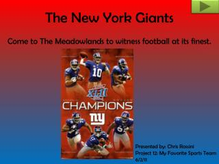 The New York Giants