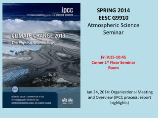 SPRING 2014 EESC G9910  Atmospheric Science Seminar