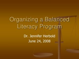Organizing a Balanced Literacy Program