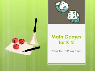 Math Games for K-2
