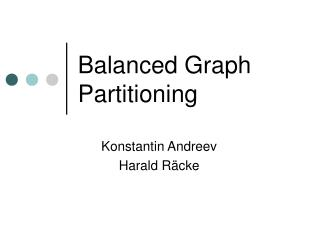 Balanced Graph Partitioning