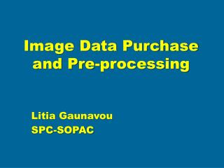 Image Data Purchase and Pre-processing