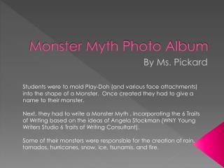 Monster Myth Photo Album