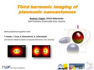 Third harmonic imaging of  plasmonic nanoantennas