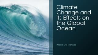 Climate Change and its Effects on the Global Ocean