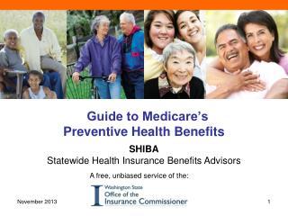 Guide to Medicare's  Preventive  Health Benefits