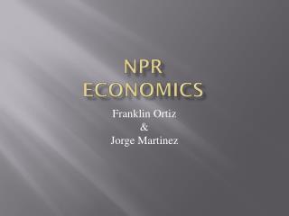 NPR Economics