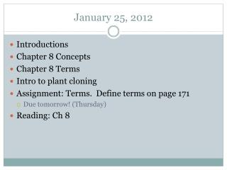 January 25, 2012