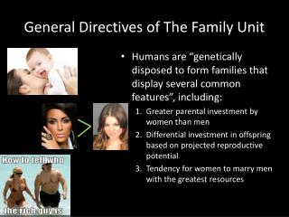 General Directives of The Family Unit