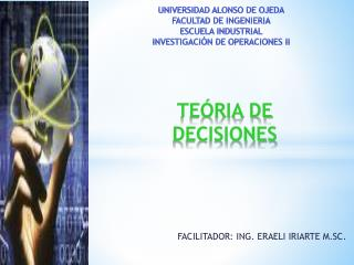 TEÓRIA DE DECISIONES