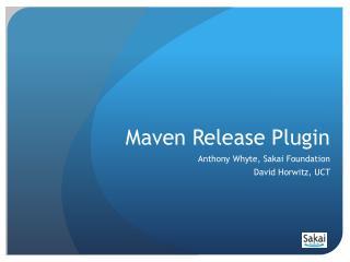 Maven Release Plugin
